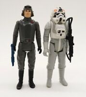 Lot 2 Vintage Star Wars Action Figures - AT-AT Commander & AT-AT Driver Complete