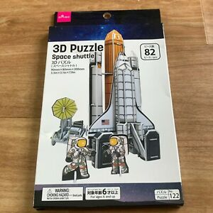 Free Shipping Paper Craft 3D Puzzle Space shuttle Astronaut NASA Daiso Japan