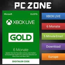 Microsoft Xbox Live 6 Months Gold Membership Xbox-Abonnement (S6T-00002)