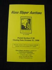 GLASS SLIPPER AUCTION CATALOGUE 1998 CINDERELLA MATERIAL