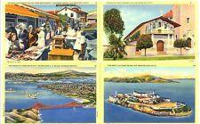 CA - SAN FRANCISCO Fisherman's Wharf, Mission Dolores, The Bay, Alcatraz Island