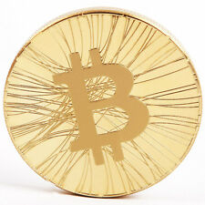 Commemorative Coin Gold Color BTC Physical  Bitcoin Hobby Art Gift