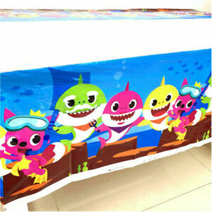 BABY SHARK TABLE CLOTH COVER TABLECLOTH BIRTHDAY PARTY LOLLY LOOT BAG DECORATION