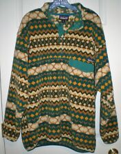 PATAGONIA MENS 4 SNAP-T SYNCHILLA PULLOVER JACKET GEOMETRIC PRINT SIZE XL NWOT