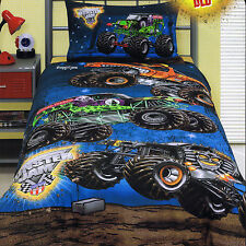 Monster Jam El Toro Loco Grave Digger Mutt Maximum D - Queen Bed Quilt Cover Set