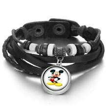 Mickey Mouse Snap Button Bracelets Leather Tv Shows Cartoon