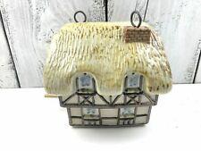 Vtg. Louisville Stoneware Hanging Bird House English 2 Story Cottage Good Shape