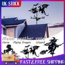More details for witch weather vane iron wind vane wind speed spinner vane garden yard decor w