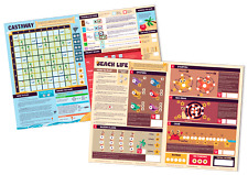2 Large 'Roll & Write' Games with a Desert Island Theme: Beach Life and Castaway