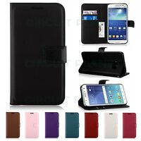 Leather Wallet Case Cover For Samsung Galaxy S6 Mobile Phone + Screen Protector