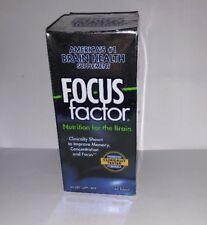 Focus Factor America's #1 Brain Hlth Supp Nutrtn for the Brain 60 ct EXP 2/19 A2