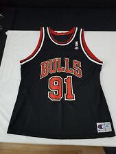 Chicago Bulls NBA Maillot/jersey AWAY 91 Dennis Rodman, extrêmement état 48/xl