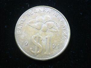 Malaysia 1 Ringgit 1991 Kris Dagger 654# World Money Coin