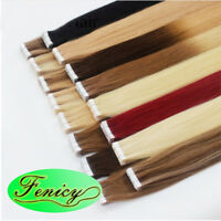 Double Sided Seamless Tape in Skin Weft Real Remy Human Hair Extensions 20/40pcs