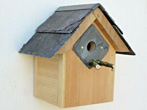 BlueTit Nesting Box - Larch Cedar Welsh Slate 25 mm hole bird house