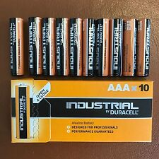 10 Duracell AAA Industrial Procell Alkaline Batteries LR03 MN2400 Expiry 2024