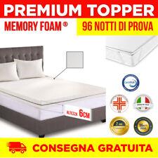 Topper Memory Foam | Correttore Materasso 6cm | Correttore | Antibatterico