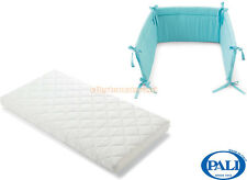 Materassino lettino Pali Evolution 64x124cm + paracolpi Pali Sweeties azzurro