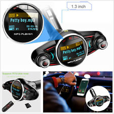 Portable Car SUV Bluetooth Handsfree Kit MP3 Player FM Transmitter AUX Dual USB