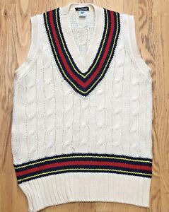 Vintage Cricket Tennis Vest MADE IN UNITED KINGDOM CAMBRIDGE