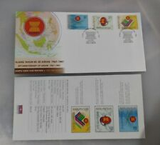 1997 Malaysia ASEAN 30TH anniversary stamp FDC with brochure