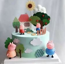 Peppa Pig Stand Up Cake Toppers [ Include: Tree House And Peppa Family ]