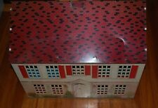 1948 F W Woolworth Tin Dollhouse-Two Story, Five Rooms
