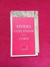 Carte touristiques de LA RIVIERA CÔTE D'AZUR CORSE