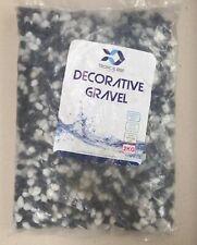 Tropical-Reef 2KG Black & White Gravel Aquarium Fish Tank Substrate  5-8mm