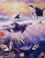 Jigsaw puzzle Animal Fish Orcas Whales 500 piece NIB