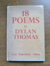 18 POEMS by Dylan Thomas - HCDJ 2nd 1942 UK edition Fortune Press - VG+ -