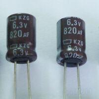 LOW ESR 10Pcs 6.3V820uF 6.3V Nippon NCC KZG 105℃ Motherboard Capacitor 8X11.5