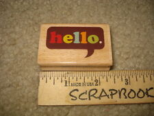MOUNTED RUBBER STAMPS STUDIO G HELLO CARDS SCRAPBOOKING NEW .