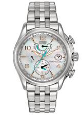 Ladies' Citizen Eco-Drive World Time A-T Chronograph Watch with Mother-of-Pearl