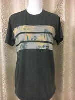 BillaBong Vintage Malibu T-shirt men Size M  Gray Aloha the Tailored Tee