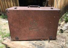Large Red Brown GE Vintage Radio TV Vacuum Tube Caddy Carrying Case