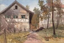 Pintura de paisaje cerca Salenstein Suiza George d'aguilar c1840 Grand Tour
