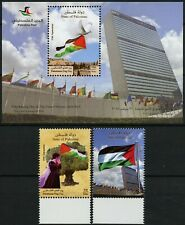 Palästina Palestine 2016 Tag der Flagge UNO Frau Baum 374-375 + Block 60 MNH