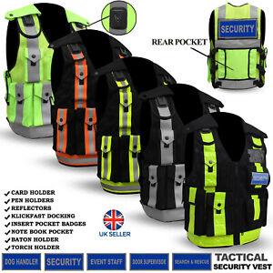 Hi Viz Tactical Security Dog Handler Vest Enforcement CCTV Tac High Quality NEW
