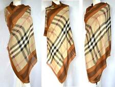 Burberry lujo Haymarket XXL bufanda PAÑUELO scarf estola con cachemira PVP 429 € marrón