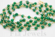 Collana Lunghissima Rosario smeraldo Argento 925 oro PL Gioielli Artigianali