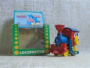 LOCOMOTIVE # 117 NIB a wind up Toy Whistling Ananiadis Made in Greece Greek VTG