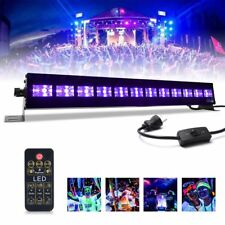12x3W LED UV Black Light Dimmable Glow Stage Light Bar for UV Body Paint Party