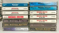 Lot of 14 MICHEAL BOLTON Cassette Tapes ~ Timeless, Soul Provider, Early Years