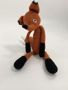 Crocheted Plush Fox Stuffed Animal