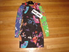 2011 VERSACE for H&M Women Floral Pattern Long Sleeve Cut Out Dress black sz 2 B