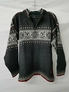 Dale of Norway US Olympic Collection Grey Wool Knit Sweater Size M