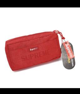 2019 SS Supreme Unisex Organizer Pouch Red
