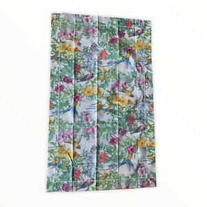 Cuddledown  (1) King Cotton Pillowcase Hummingbird Floral Motif UNUSED