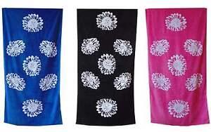 Beach Towel Large Cotton Summer Swimming Pool Towels Flower Pink Blue Black